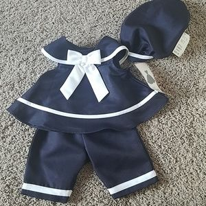 Navy 3 piece baby outfit
